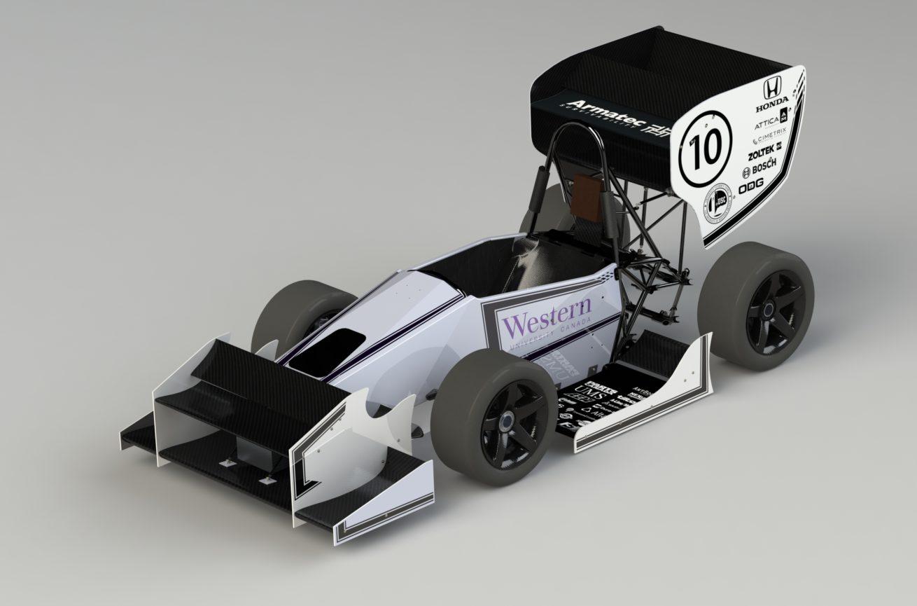 SolidWorks Render of vehicle aesthetics